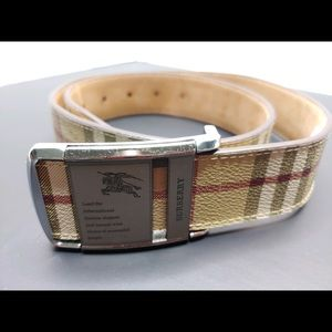Burberry vintage buckle belt